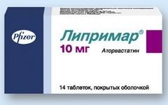 ЛИПРИМАР 10 - инструкция по применению, цена, отзывы и аналоги